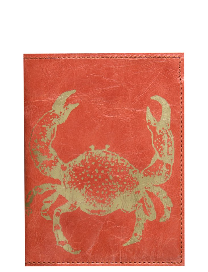 Crab Passport Case, Orange