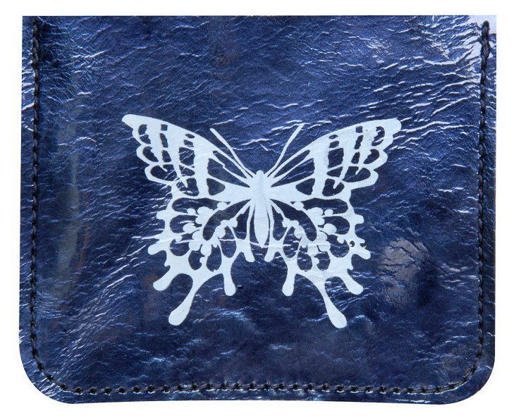 Butterfly Credit-Card Case, Navy