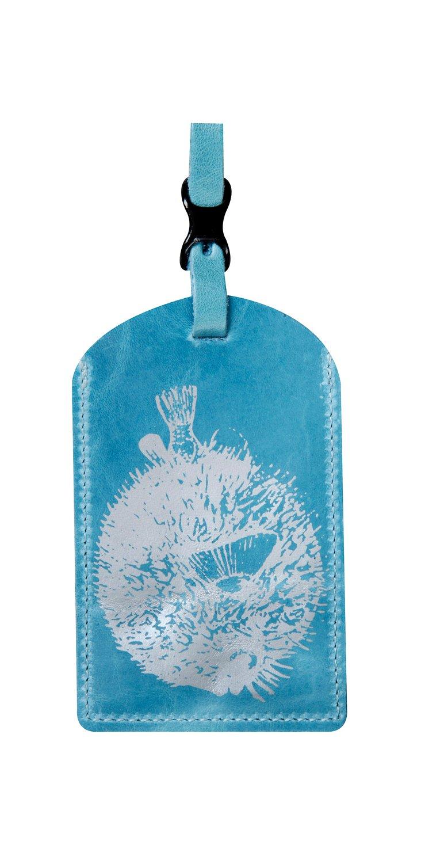 Blowfish Luggage Tag, Ocean Blue
