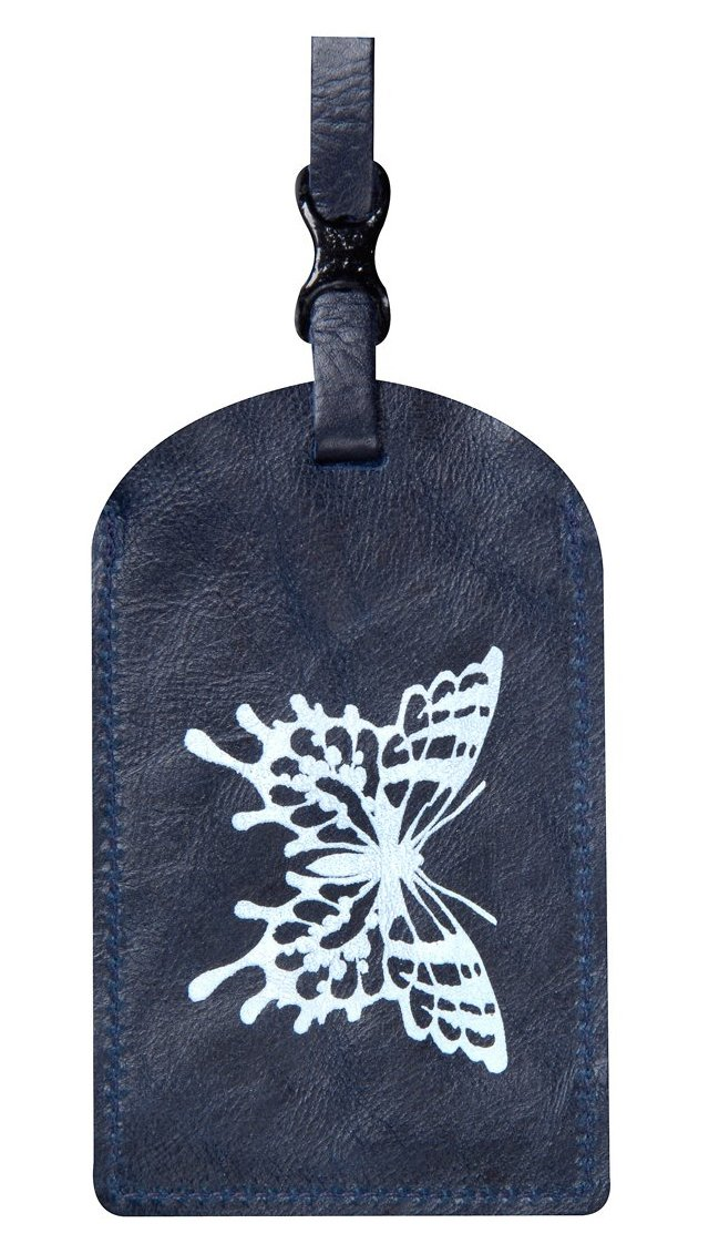 Butterfly Luggage Tag, Navy