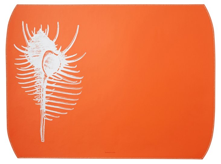 Shell Desk Blotter, Orange