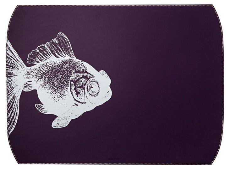Fish Desk Blotter, Purple