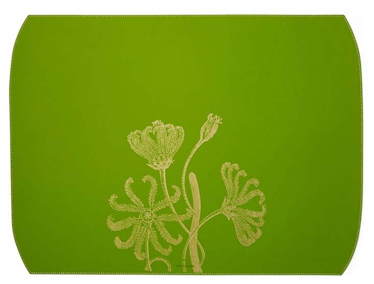 Sea Flowers Desk Blotter, Green