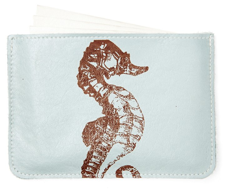 S/10 Cards in Seahorse Case, Blue