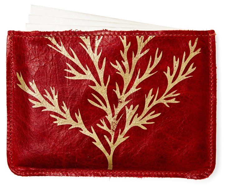 S/10 Cards in Coral Case, Red