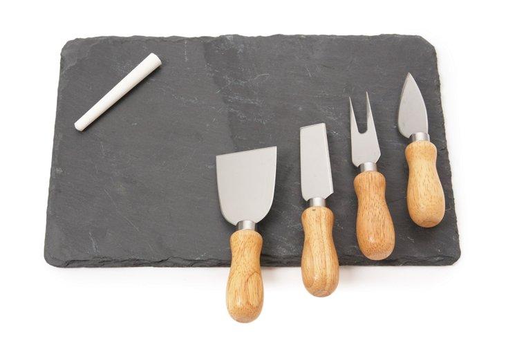 Chalkboard Cheese Plate w/ Knives