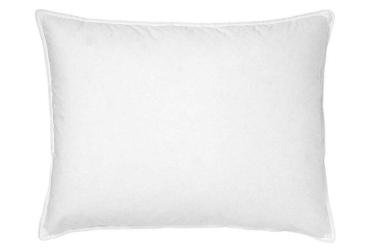 Down Wrap Feather Pillow, Firm