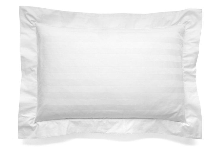 Stripe Pillow Sham, White
