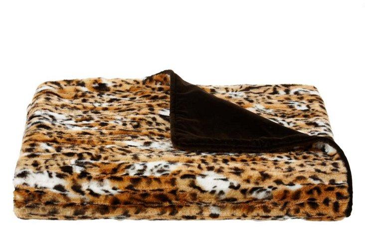 Faux-Fur Throw, Wildcat