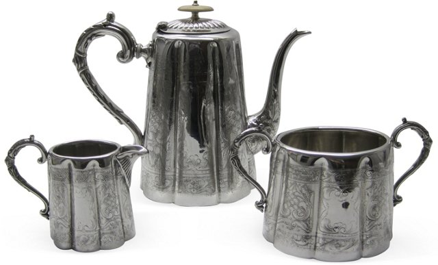 English Coffee Set, 3 Pcs.