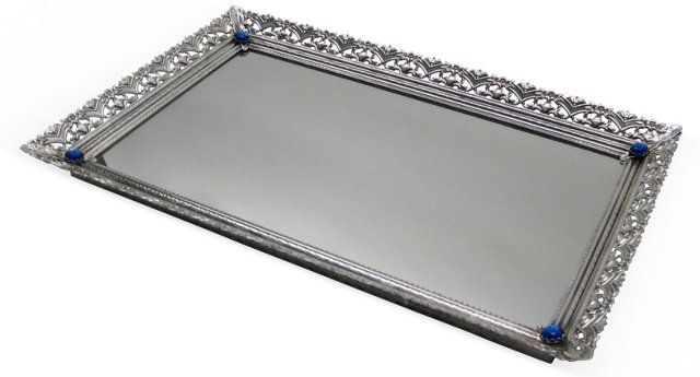 Ladies' Vanity Tray w/ Rhinestones