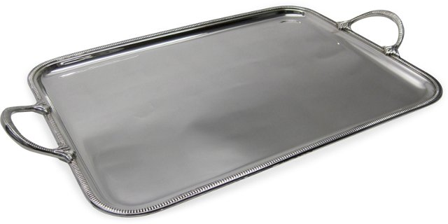 Large Silverplate Serving Tray