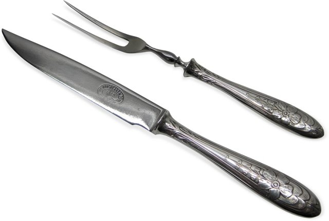 Silverplate Carving Set, C. 1900