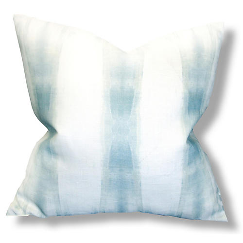 Beneath No. 1 20x20 Pillow, Blue Linen