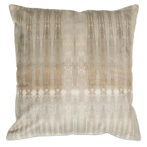 Dune No. 1 20x20 Pillow, Dark Natural Velvet