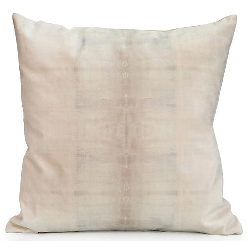 Dune No. 1 20x20 Pillow, Natural Velvet