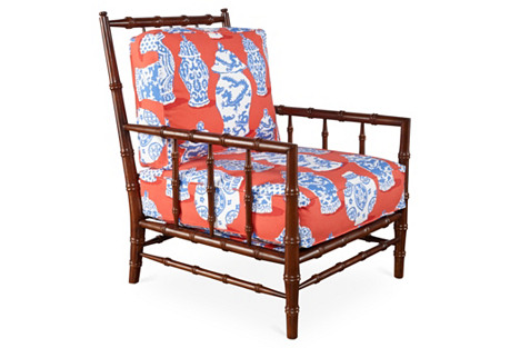Cottonwood Chair, Red/Cobalt