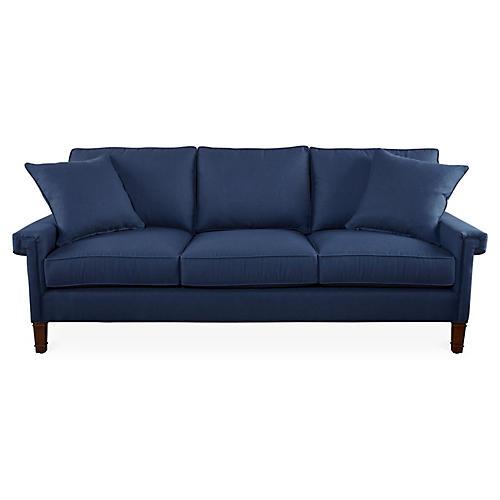 """Tuxedo Park 86"""" Sofa, Navy Blue"""