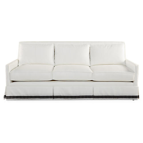 Lilla Skirted Sofa, Cloud White