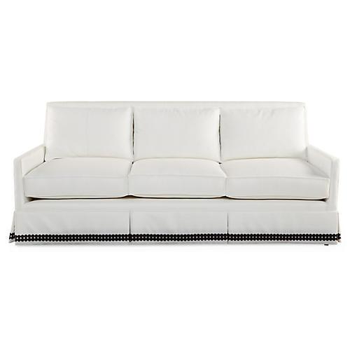 Lilla Skirted Sofa, Cloud White