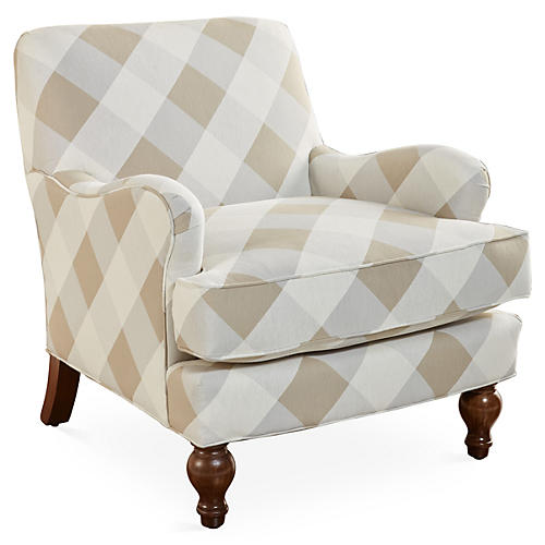Sumner Club Chair, Tan