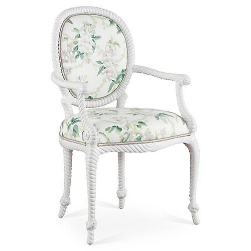 Bellona Armchair, Green/Multi