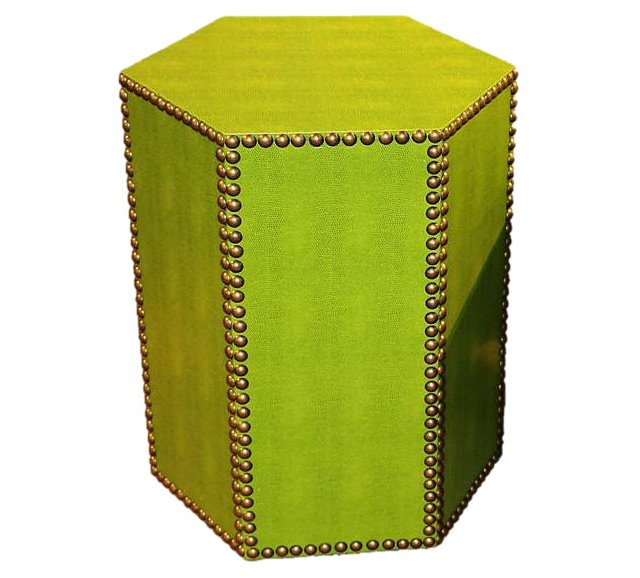 Blake Textured Side Table, Lime