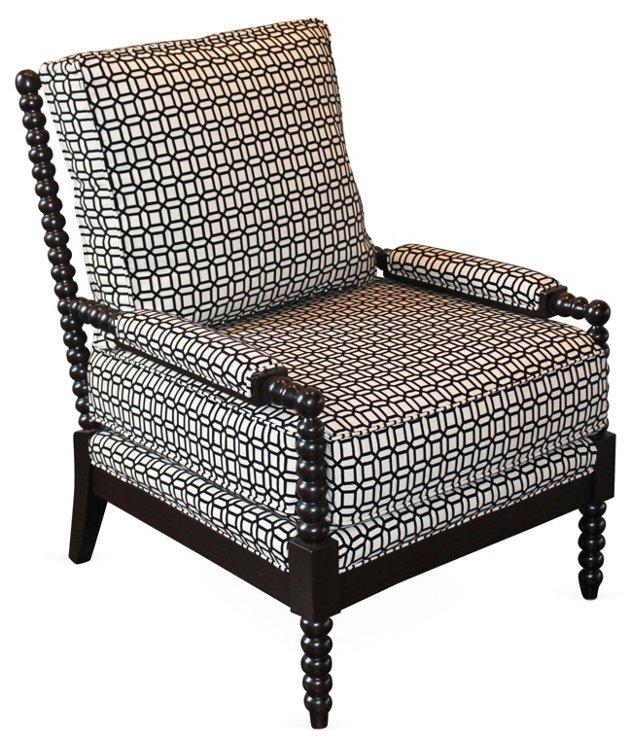 Gregg Lounge Chair, Black