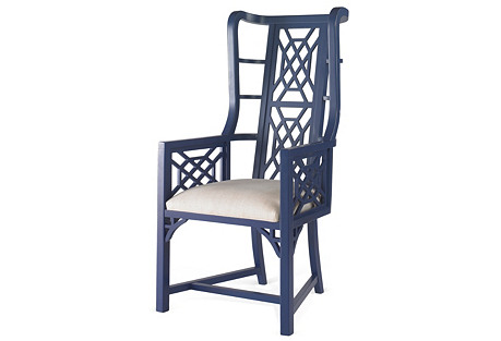 Kings Grant Wingback Chair, Navy