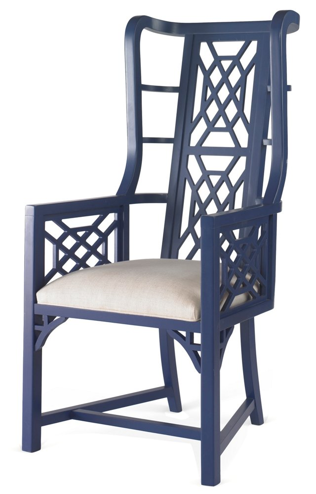 Kings Grant Chair, Navy/Snow
