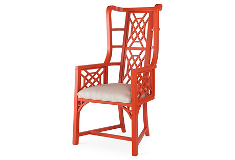 Kings Grant Wingback Chair, Coral