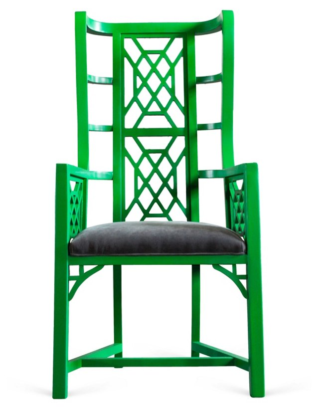 Kings Grant Chair, Emerald/Gray