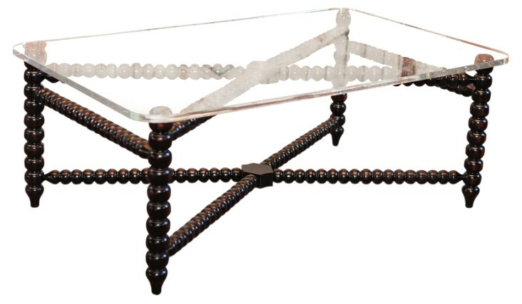 "Spindle 52"" Coffee Table, Espresso"