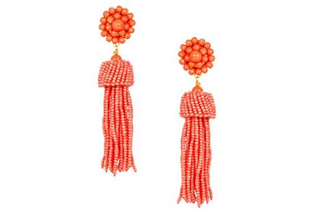 Tassel Earrings, Conch