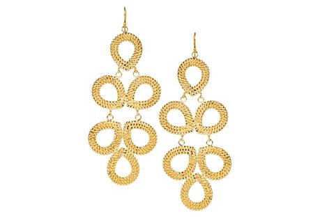 Ginger Earrings, Gold