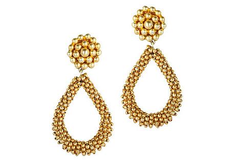 Kate Earrings, Gold