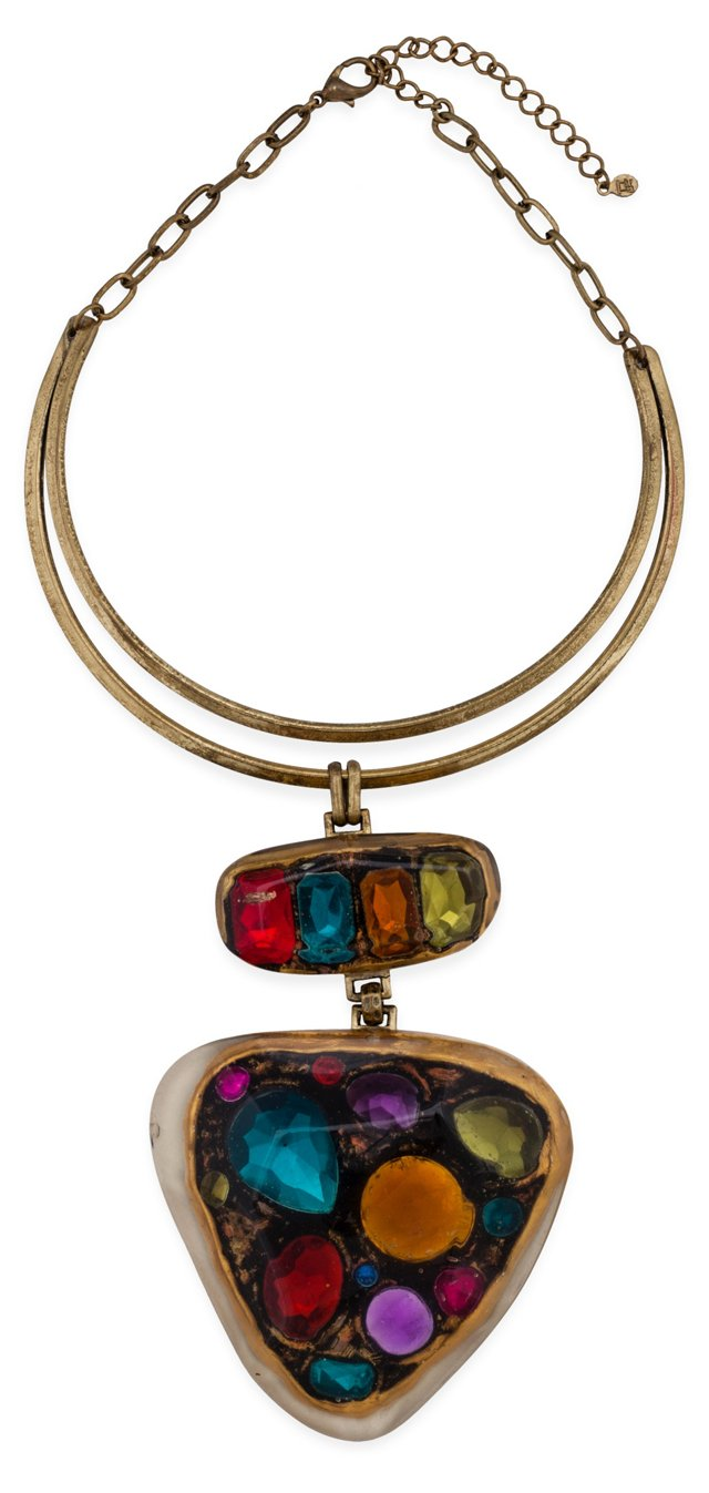 Multicolored Lucite Necklace