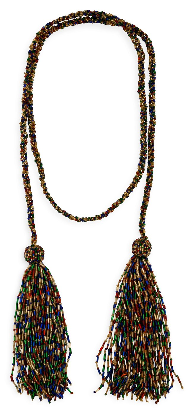 1920s Multicolored Bead Necklace
