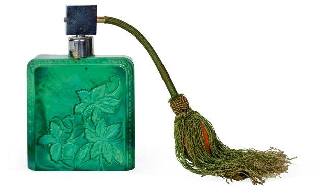 Art Deco Malachite Perfume Atomizer