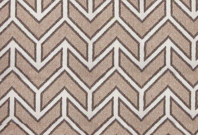 Chevron Wool Rug, Beige