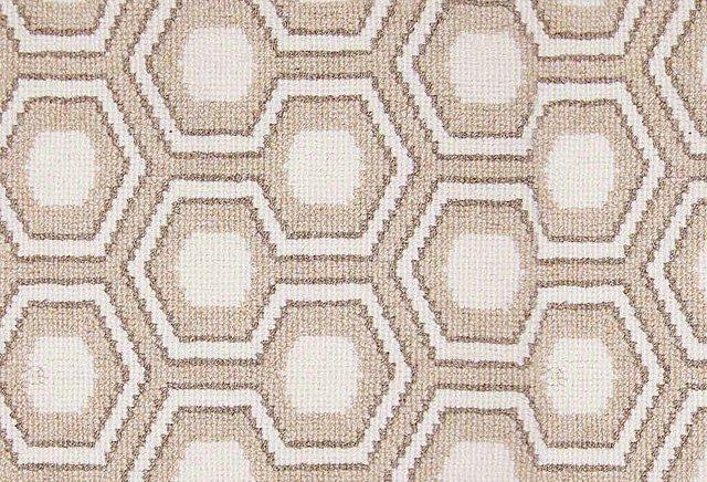 Hexagon House Wool Rug, Taupe