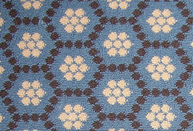 Honeycomb Wool Rug, Blue