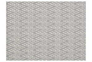 Bead Work Wool Rug, Gray