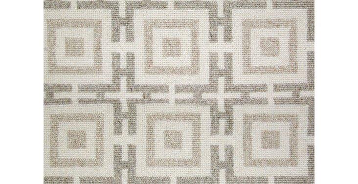 6'x9' Logo Wool Rug, Eggshell