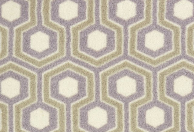 Hexagram Nylon Rug, Lavender