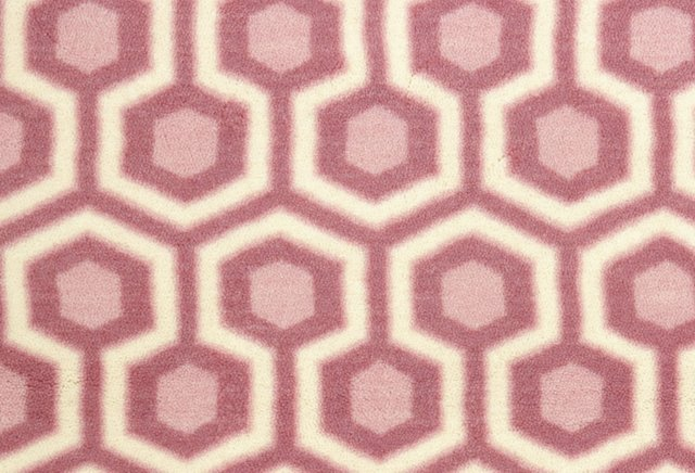 Hexagram Nylon Rug, Rose