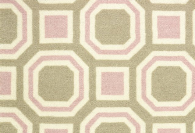 Octogram Nylon Rug, Blush