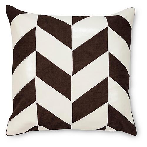 Max 22x22 Linen-Blend Pillow, Black