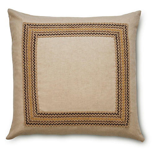 Bohemia 22x22 Jute-Blend Pillow, Multi
