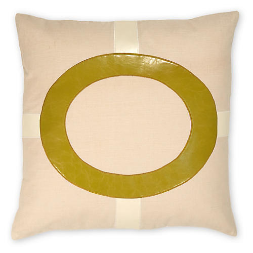 Cameron 22x22 Linen Pillow, Green